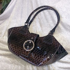 Handbags - Patent faux-leather handbag